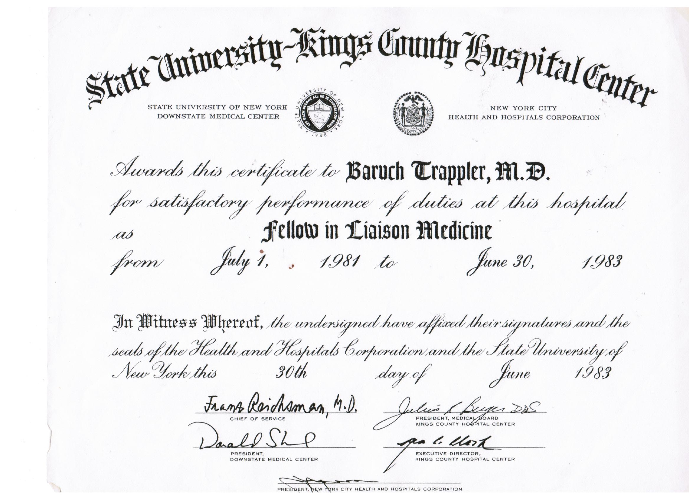 Graduation Certificates Briantrappler Md General Psychiatry