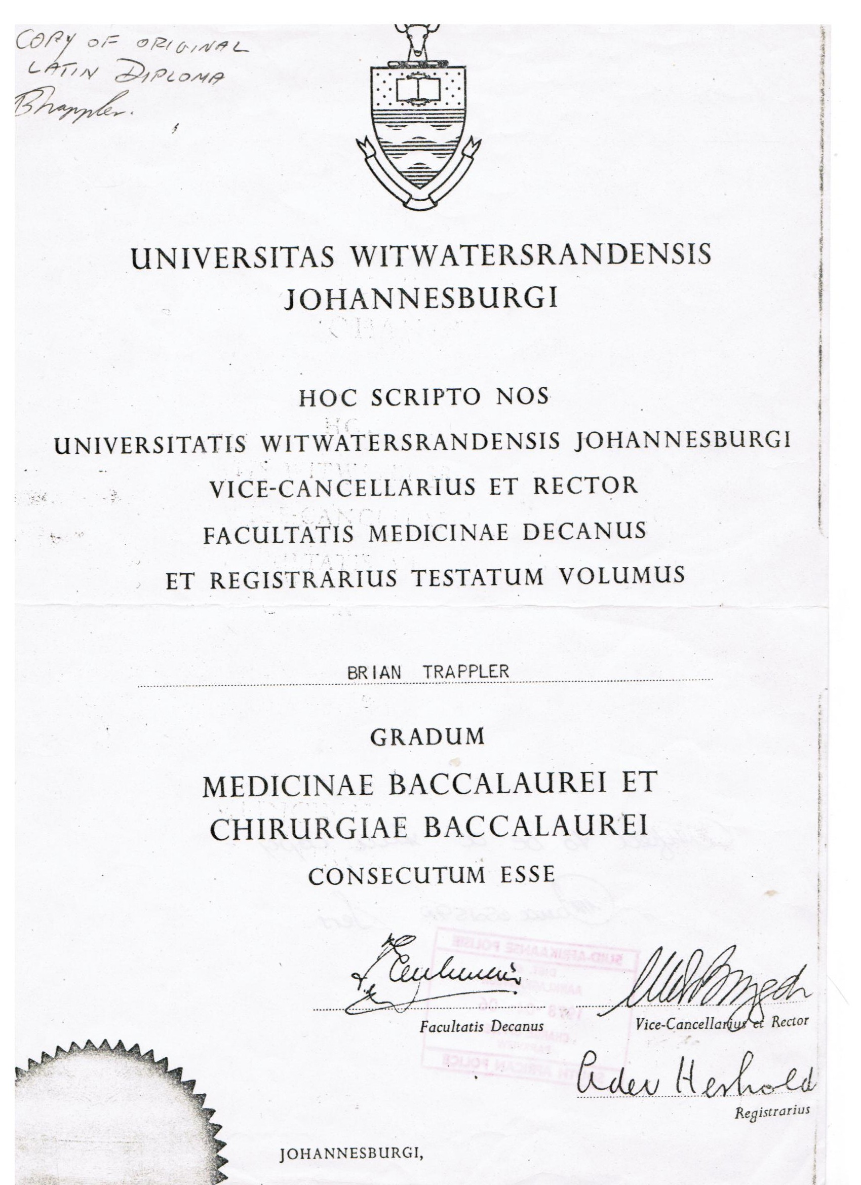 graduation certificates  u00ab briantrappler m d
